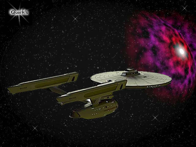 star trek ship in space